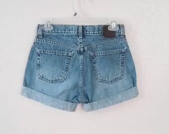 HIgh Waist Faded Shorts