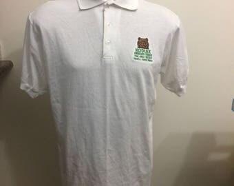 Vintage kodiak smokeless tobacco polo shirt size large screen stars