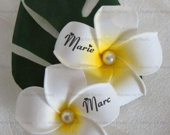plumeria flowers boutonniere to customize