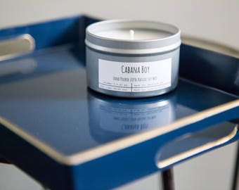 Cabana Boy Hand-Poured Soy Candle - By Cylburn Candles