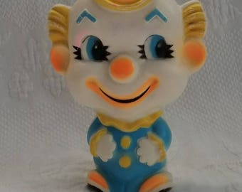 Vintage SQUEAKY CLOWN Toy