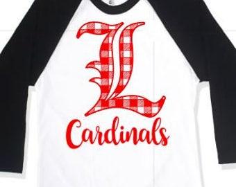 Louisville Cardinals Tshirt-Louisville Mom Shirt-Louisville Shirt-Plus Size Tshirt-Plus Size Shirt-Louisville Tshirt-U of L Game Day Shirt