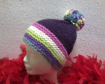 original hat with Pompom for girl