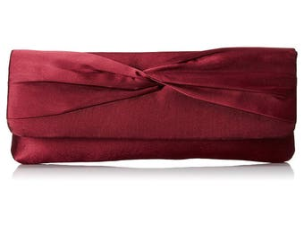 Valentines Day Burgundy Satin Clutch