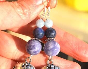 Earth sodalite earrings