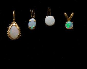 SALE*** 14k Opal Pendants