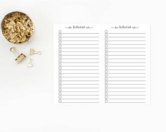 To Do Checklist Traveler's Notebook Insert - Micro or Passport size - lined journal - bujo - bullet journals - jot it down - idea catcher
