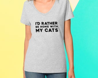 I'd Rather Be Home With My Cat Shirt