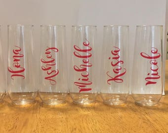 Stemless Personalized Flutes