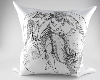 Beautiful Decorative Vintage Style Shabby Chic Angels Cushion Cover