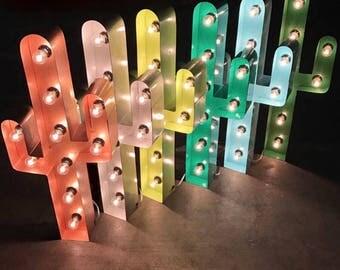 """SALE 24"""" marquee CACTUS, cactus light, light up cactus"""