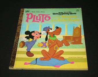Pluto and the Adventure of the Golden Scepter , A Little Golden  Book, Walt Disney 1972