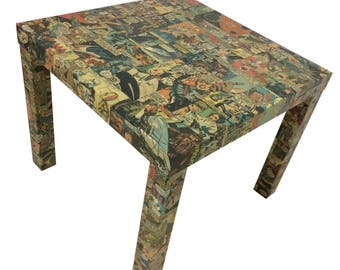 Superhero Comic Table - Coffee Table - Comic Book Table - Side Table- Night Stand- Superhero Furniture- End Table - Geek Table - Geek Decor