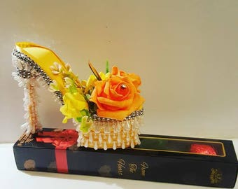 Handmade beautiful decor shoe