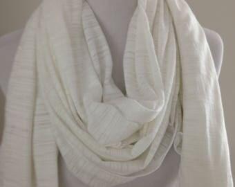 White Cotton Shawl, White Scarf, Off White Wedding Shawl, Cotton Shawl, White Shawl, Shawl,Wrap,Gift for Her,Wedding Shawl,FREE SHIPPING