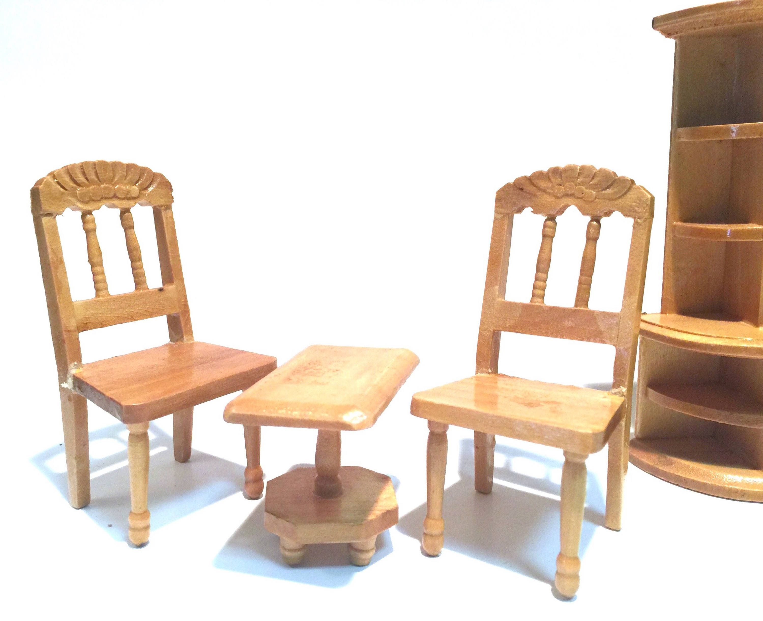 Vintage Dollhouse Furniture,Living Room Set,Table & Chairs,China ...