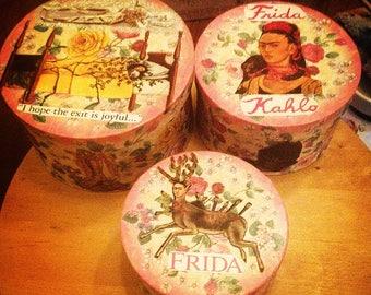 Frida Flowered Boxes