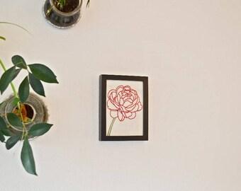 Frame embroidery Peony made Mian