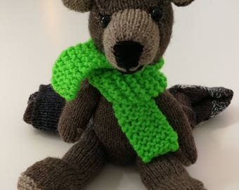 Scarf hand knitted bear