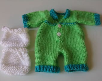 Knitted Sleeper with Slippers
