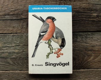 Songbirds - 48 Beautiful Color Drawings (In German) - Hardcover - Vintage Bird Book, 1980. Nature Ornithology Illustration Print