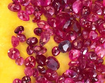 Natural Ruby faceted lot