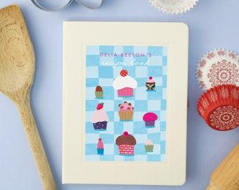 Personalised Cupcakes Notebook