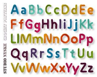 Alphabet letters pattern crochet uppercase lowercase birthday garland