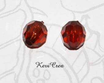 14 x faceted 8x10mm amber acrylic beads