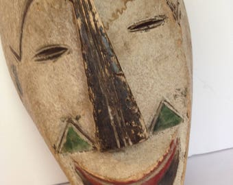 FREE SHIPPING - Vintage African Tribal Mask - Wall Decor - Artifact #8