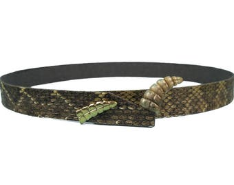 3/4 inch Rattlesnake Hat Band with Rattle