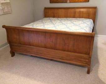 Ethan Allen Legacy Sleigh Bed Full French Bed Carved