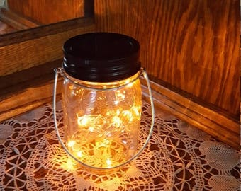 June Clearance Sale Event Mason Jar Solar Lid Light - Orange - Angel Lights - Firefly Lights - solar mason jar, mason jar light, fairy light
