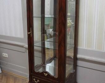 Baroque glass Cabinet antique Rococo style wardrobe Louis XV MkVi0011