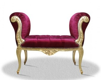 Baroque banquet stool Chair antique style - NkSo0319GoRtSamt