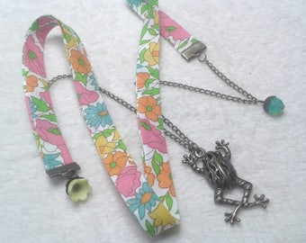 Liberty multicolor frog Prince necklace