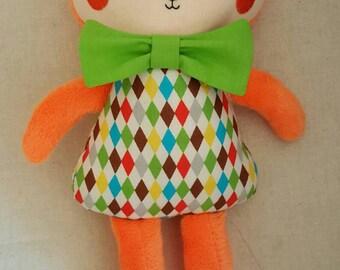 Fox. Softie. Plushie. Handmade.
