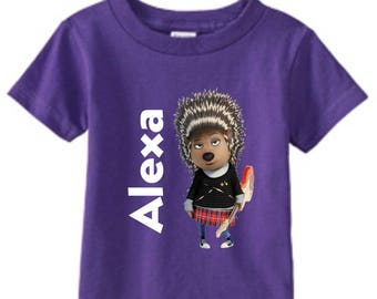Sing Movie Ash Custom t-shirt/ Ash birthday t-shirt / Ash Sing Custom tee