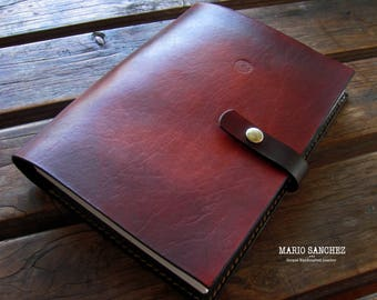 Genuine 2mm thick Oak Bark Tanned Leather Journals -  A5