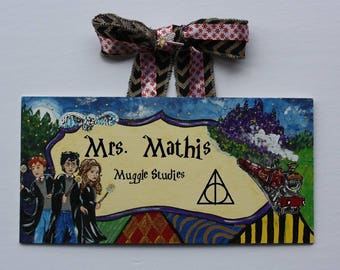 Harry Potter Teacher Sign