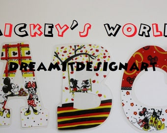 Mickey's World Alphabet Wall Letters