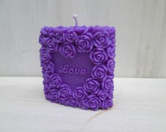 Candle love hand made rapeseed wax