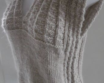 Sweater tube 100% baby alpaca, sleeveless, size and choice of colors