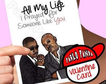 Funny Valentine Card | Jodeci | Kci And Jojo All My Life Boyfriend Valentine Card For Wife Girlfriend Valentine Gift Aaliyah Bobby 90s Stars