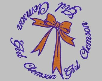 Clemson University machine embroidery design