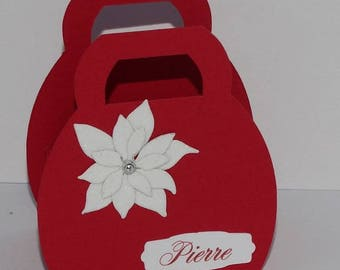 Brand instead purse white poinsettia