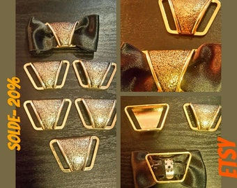 Set of 6 shoe clips gold plated blank