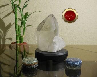 Large Clear Quartz Cluster Point, Natural Quartz Cluster Point, Raw Crystal Point with Stand, Large Clear Quartz, Master Healer, 590G