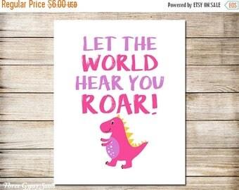 Let the World Hear You ROAR. Dinosaur Wall Art. Dinosaur - photo#47