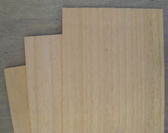 Obeche Craft Wood Sheet - 300 x 100 x 0.8mm - (11 13/16 x 4 x 1/32 inch)